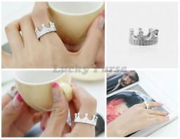 """Кольцо """"Корона"""" с кристаллами"""