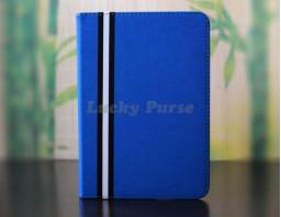 Чехол для iPad mini 3/2/1 из искусственной кожи (синий)