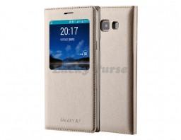 Чехол-книжка для Samsung Galaxy A5 (золотой)