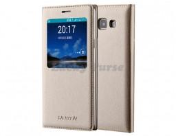 Чехол-книжка для Samsung Galaxy A7 (золотой)