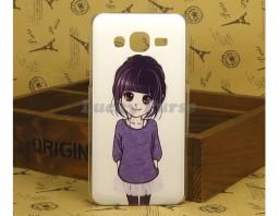 "Чехол для Samsung Galaxy J5 ""Anime purple girl"""