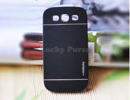 Чехол-бампер для Galaxy S3 I9300 motomo (темно-серый)