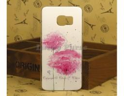"Чехол-бампер для Galaxy S6 Edge ""Pink flowers"""