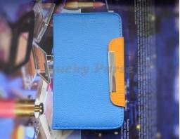 """Универсальный чехол книжка для 5.0""""-5.3"""" смартфонов (голубой)"""